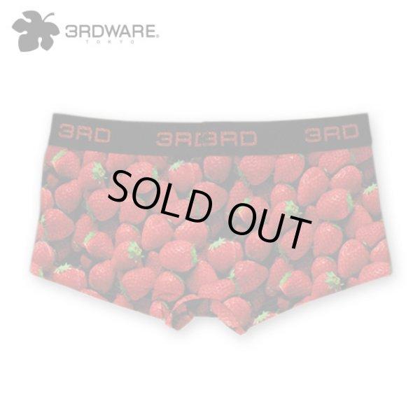 画像1: 20%off!!3RDWARE サードウェア★Strawberry イチゴ柄 レディースボクサーパンツ (1)