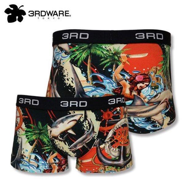 画像1: 3RDWARE サードウェア★KURONO/BITE ME サメ柄 ボクサーパンツ  (1)